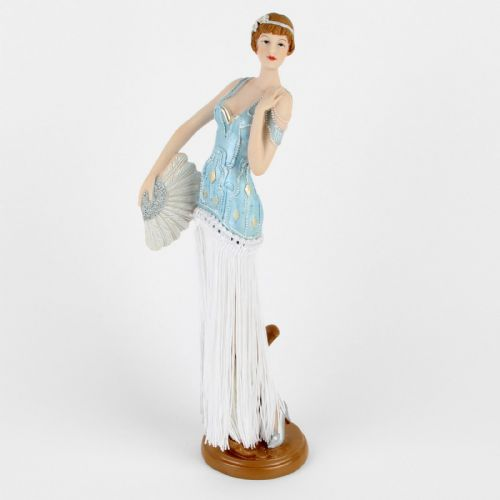 Art Deco Figurine With Fringed Dress - 1920s Lady Figurine -Juliana Gatsby Girls Lilian 58232
